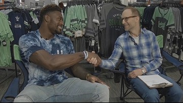 Up close and personal with Seahawk DK Metcalf
