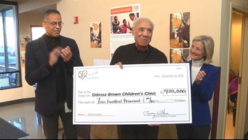 Lenny Wilkens Foundation gives biggest and final check of $400,000 to children's clinic