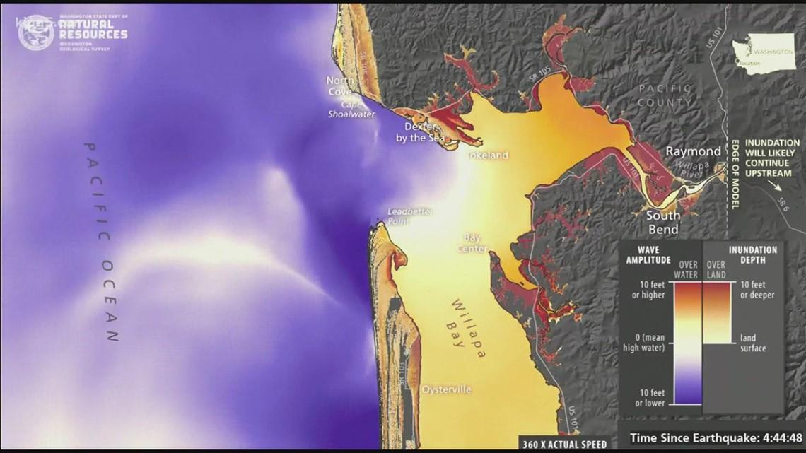Tsunami simulations for Grays Harbor, Willapa Bay released