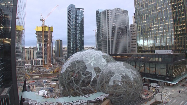 The Amazon Spheres highlight the city's zest for innovation.