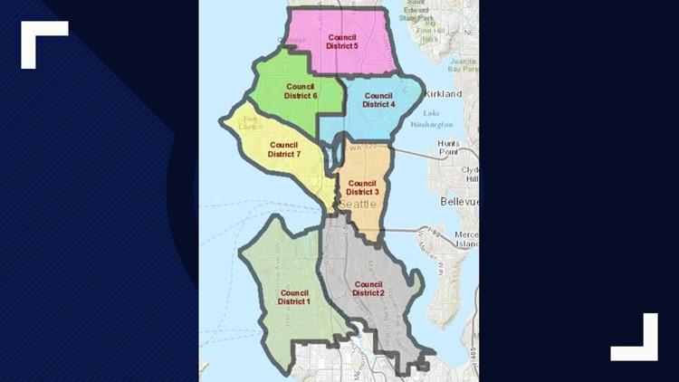Seattle City Council District Map