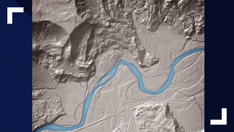 Lidar image from Washington State Geological Survey
