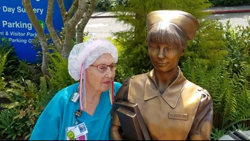 America's oldest working nurse 'SeeSee' celebrates 94th birthday in Tacoma