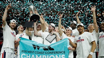 No. 2 Gonzaga wins 17th WCC title with 84-66 win over Gae