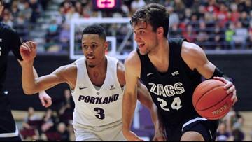 Tillie scores 22, top-ranked Gonzaga downs Portland 85-72