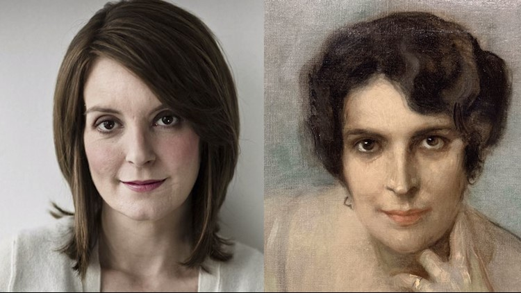 Does this century-old portrait look like Tina Fey? Amy Poehler thinks so