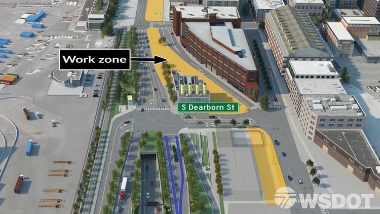 dearborn construction work map