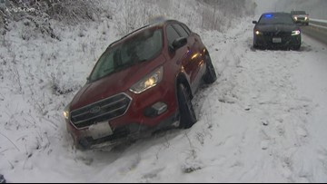 Don't abandon your car in snowy conditions, state patrol says