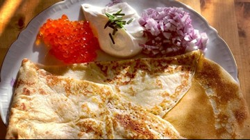Making Blinis with Seattle's Dacha Diner