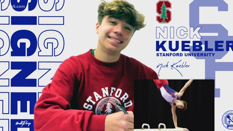 Prep Zone: Seattle Prep gymnast Nick Kuebler vaults to the top