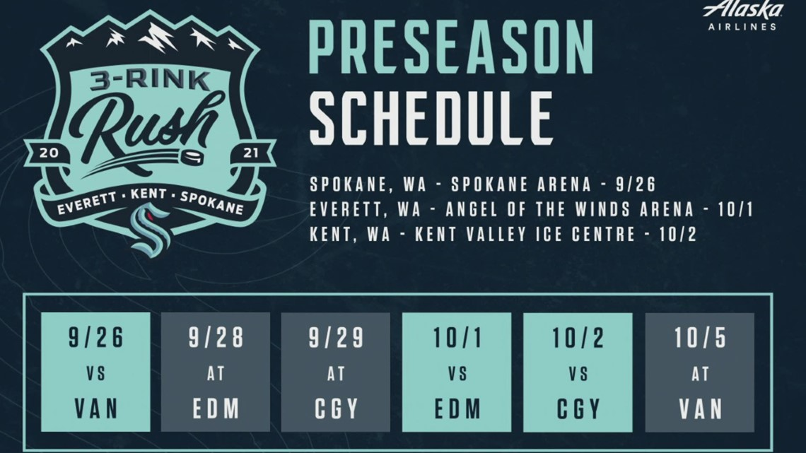 Seattle Kraken release preseason schedule