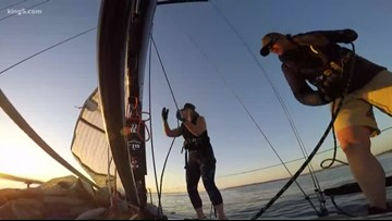 Sailors take off from Port Townsend to compete in the Race to Alaska