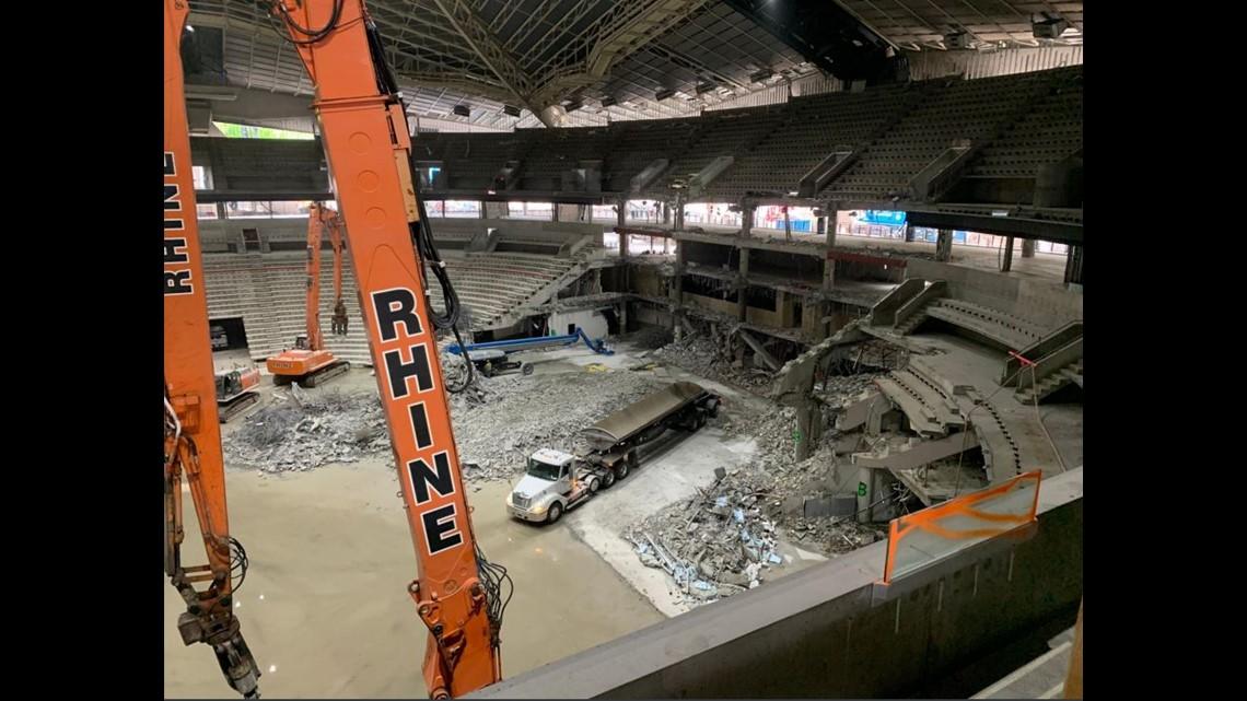 New photos show progress being made on KeyArena demolition