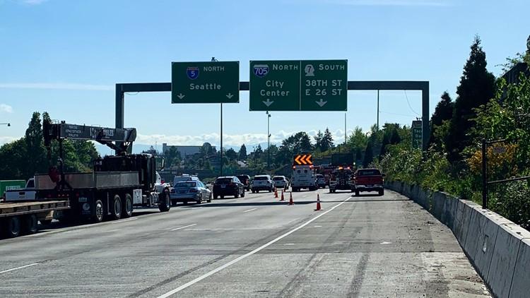 Distracted driver hits, kills man changing tire along I-5 in Tacoma