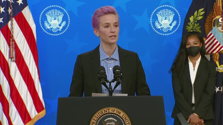 Megan Rapinoe, members of US Women's National Team push for pay equality