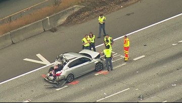 Police: Causing driver of I-5 hit-and-run crash in Shoreline