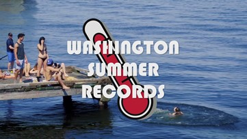 Summer weather records in western Washington