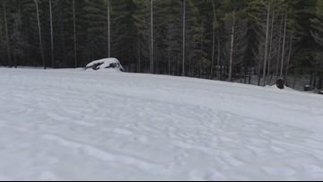 Drone footage: Washington snow