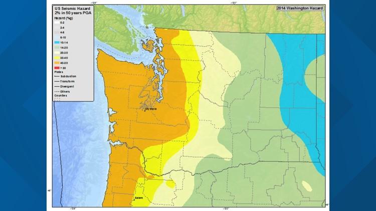Washington earthquake seismic hazard