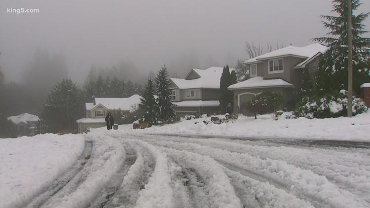 Snow turns to slush across western Washington with threat of urban flooding