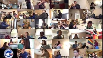 Graham-Kapowsin High School band performs social distancing concert