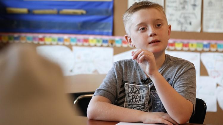 Ryan Vandell, 11, participates in a fourth-grade reading lesson at Hamlin Robinson School on June 1, 2018. (Photo: Taylor Mirfendereski | KING 5)