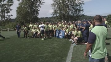 Coast Guard members get to be in Seahawks Bootcamp for a day