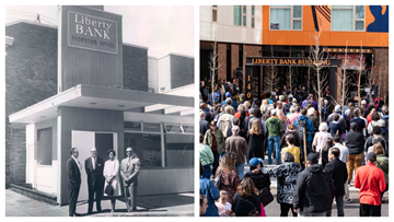 The Liberty Bank Building preserves the Central District's past while looking toward the future