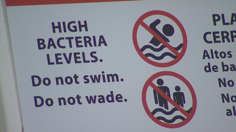 Four beaches closed in King County due to high bacteria levels, sewage spill