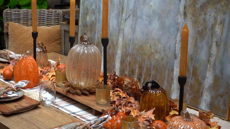 Layering is the key to  setting a beautiful fall table - New Day NW
