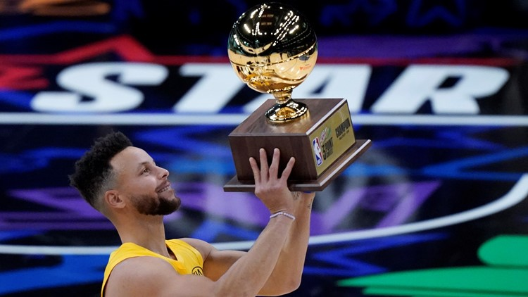 Curry sinks final shot to win 3-point title, Sabonis wins Skills Challenge
