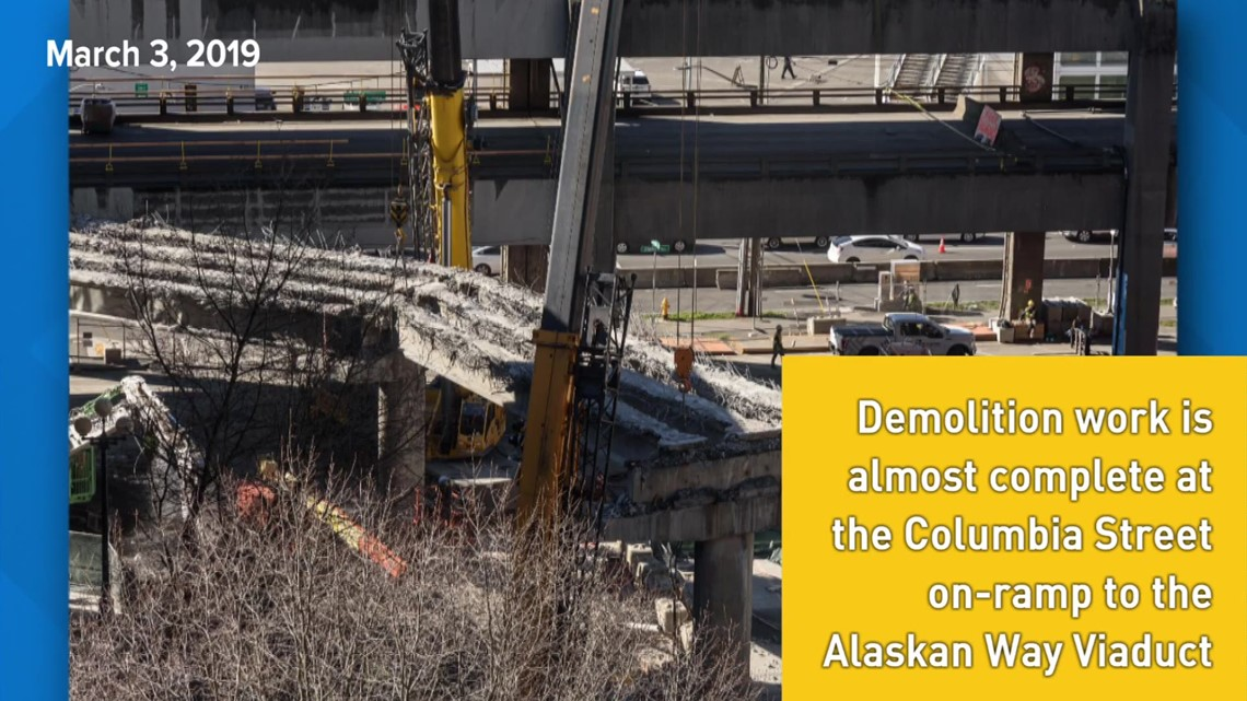 Photos: Viaduct demolition on March 3, 2019