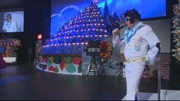 Elvis spotted at Singing Christmas Tree in Tacoma