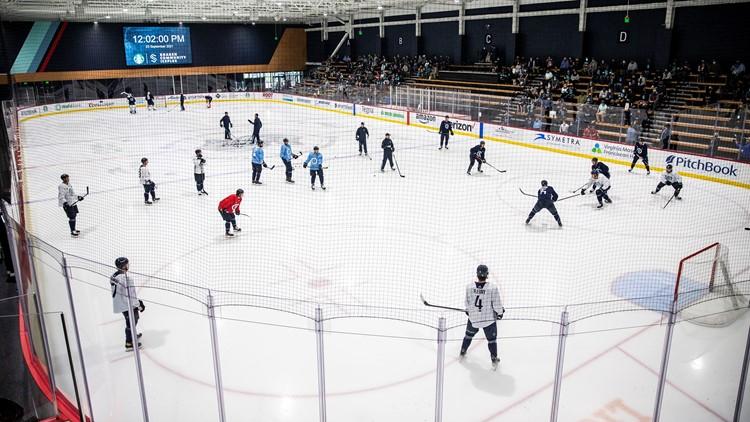 Capacity crowd packs Spokane Arena to cheer on the Seattle Kraken, celebrate win over Canucks