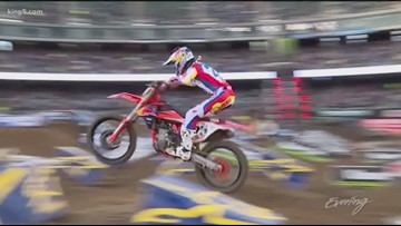 Supercross Riders take over Seattle's Centurylink Field - KING 5 Evening