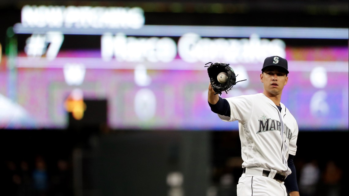 Gonzales improves to 5-0, Mariners beat Rangers 14-2