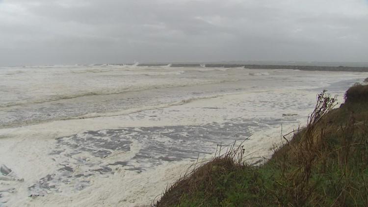 Weather beginning to calm on the Washington coast