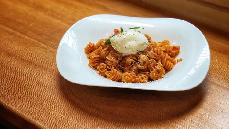 Pasta Pomodoro with burrata from Pasta Casalinga