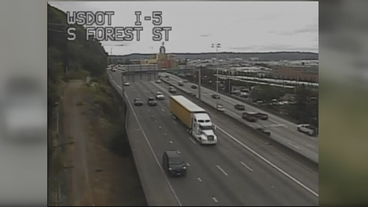 SB I-5 lanes closed this weekend for Revive I-5 work in Seattle