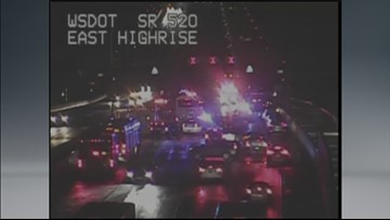 30 cars crash in icy conditions on 520 Monday night