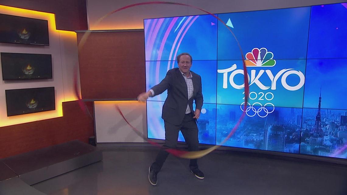 KING 5 Sports anchor shows off his rhythmic gymnastics skills
