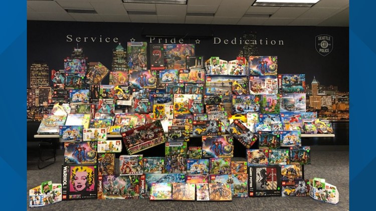 Seattle police recover stolen LEGO sets worth thousands of dollars