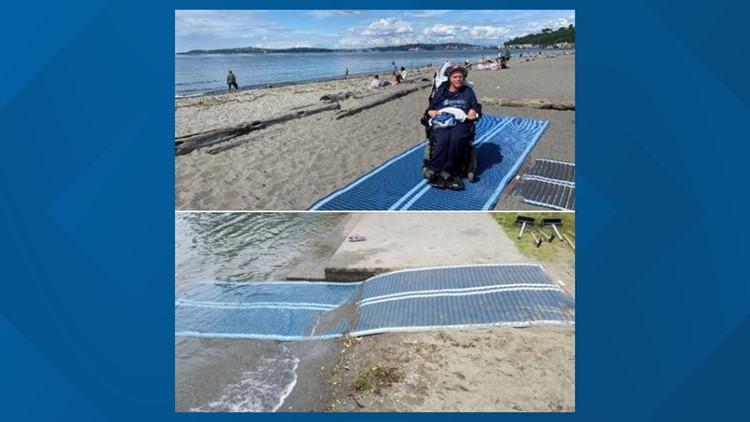 Alki beach mats