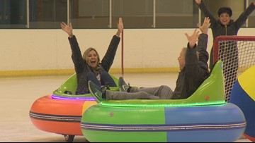 The only place in Washington state where you can play bumper car soccer... on ice - Field Trip Friday