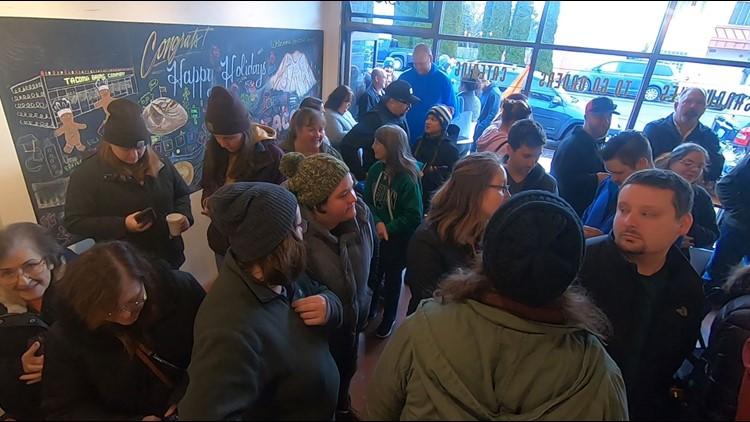 Opening day at Tacoma Baking Company