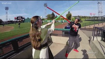 Don't be surprised if you come across a light saber battle in Seattle - KING 5 Evening