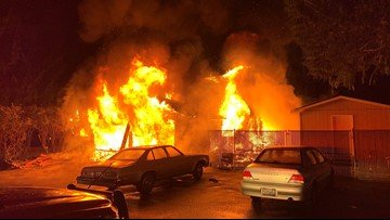 Fire guts home of 85-year-old murder suspect in Federal Way