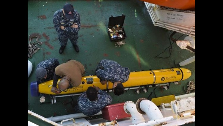 Sailors assigned to Keyport-based program mobilized with Undersea Rescue Command to support the Argentine government's search and rescue efforts for the Argentine Navy diesel-electric submarine A.R.A San Juan in November. (Photo: MC2 Derek Harkins)