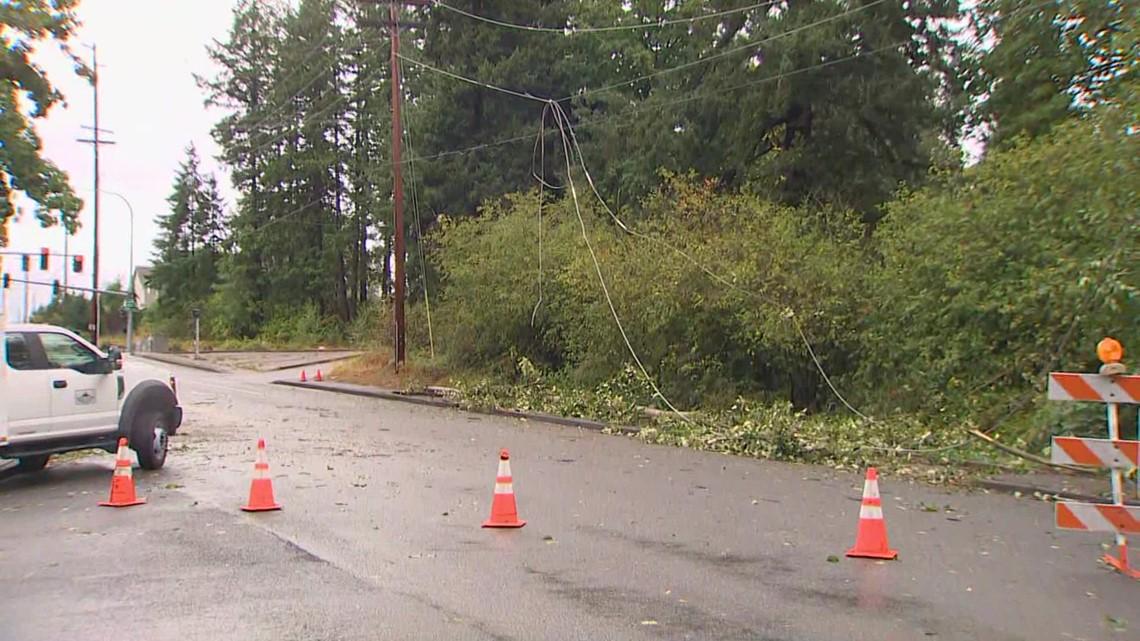 Crews work to restore power to thousands across western Washington