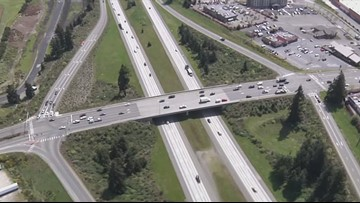 Detours, lane closures begin Tuesday for diverging diamond interchange work in Lacey